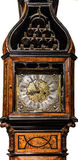 Музыкальный элегантный высокие стоячие час изолированный на белизне Стоковая Фотография RF