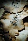 Музыка Background.Vintage. Стоковое Фото