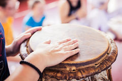 Музыка Capoeira стоковые изображения