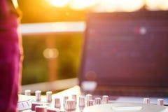 Музыка Dj смешивая внешняя Стоковое Изображение RF