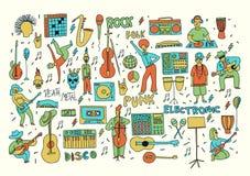 Музыка doodle цвета Стоковые Изображения RF