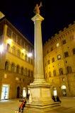 Музыка Nighttime в квадрате Флоренса Стоковые Изображения