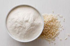Мука белого риса стоковая фотография rf