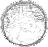 Мука в сетке изолированной на белой предпосылке бесплатная иллюстрация