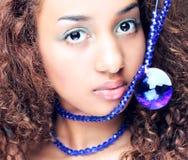 Мулат, женщина, женщины, красивейше, афро, элегантность, Стоковое Фото