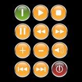 мультимедиа кнопки vector сеть Стоковая Фотография RF