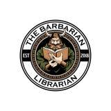 Мультфильм воина Викинга читая шаблон логотипа вектора книги иллюстрация штока