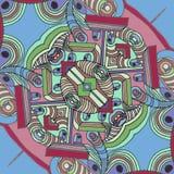 Мультфильм иллюзии предпосылки смотрит на - большой нос иллюстрация вектора