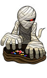 Мумия хеллоуина Стоковая Фотография