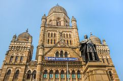 Муниципальная корпорация строя BMC в Мумбае, Индии стоковое фото rf