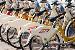 Муниципальный велосипед деля обслуживание милана Стоковая Фотография