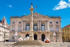 Муниципальный квадрат lisbon Португалия стоковое изображение rf