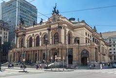 Муниципальный театр Sao Paulo Бразилия стоковые изображения