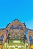 Муниципальный фасад дома на Праге Стоковое Изображение