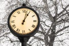 Часы старого типа Стоковая Фотография