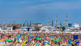 Муниципальный пляж в Гдыне Стоковое Фото
