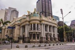 Муниципальный театр Рио-де-Жанейро стоковое фото
