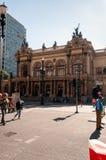 Муниципальный театр Сан-Паулу стоковое изображение