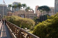 Муниципальный театр Сан-Паулу стоковые изображения