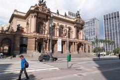 Муниципальный театр Сан-Паулу Стоковое Фото