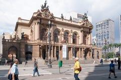Муниципальный театр Сан-Паулу стоковая фотография rf