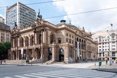 Муниципальный театр Сан-Паулу Стоковое фото RF