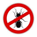 Муравей запрета знака анти- - вектор иллюстрация штока