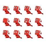 Муравей с различными выражениями лица Стоковая Фотография