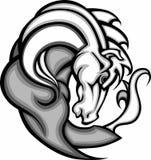 мустанг талисмана логоса лошади мустанга Стоковые Фотографии RF