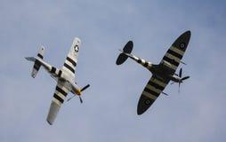Мустанг P-51 и Spitfire Стоковое Изображение RF