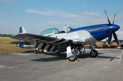 мустанг p 51 самолет-истребителя легендарный Стоковое Изображение