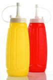 мустард ketchup бутылки Стоковое Изображение RF