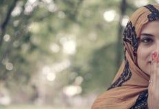 Мусульманская женщина, портрет Стоковое фото RF