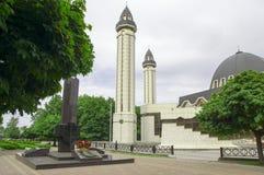 Мусульманская мечеть с минаретами Стоковое фото RF