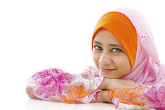 мусульманская милая женщина Стоковая Фотография RF