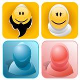 мусульманские smileys Стоковое Фото