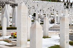 Мусульманское кладбище в Сараеве стоковые изображения