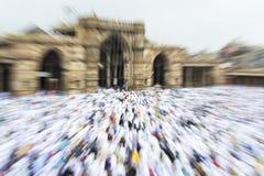 Мусульмане празднуя al-Fitr Eid который отметит конец месяца Рамазана Стоковая Фотография