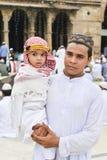 Мусульмане празднуя al-Fitr Eid который отметит конец месяца Рамазана Стоковое фото RF