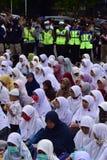 Мусульмане протеста с заголовком 212 Стоковые Изображения RF