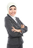 Мусульманская бизнес-леди стоковое изображение rf