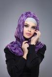 Мусульманская женщина в hijab стоковое изображение