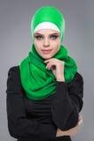 Мусульманская женщина в hijab Стоковое Фото