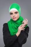 Мусульманская женщина в hijab стоковая фотография rf