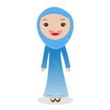 Мусульманская женщина на hijab Стоковое Фото