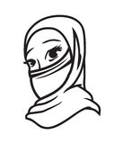 Мусульманская женщина стоковые изображения rf