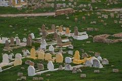 Мусульманские могилы кладбища Марокко rabat Стоковая Фотография RF