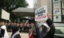 Мусульманские протестующие Стоковое фото RF