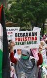 Мусульманские протестующие Стоковые Изображения