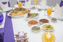 Мусульманский комплект еды свадьбы Стоковое Фото